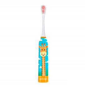 Escova Elétrica Infantil Multilaser Health Pro Girafa Branca e Azul - HC082