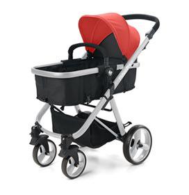Carrinho de Bebê com Moisés Hero TS Vermelho - Fisher Price - BB595