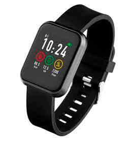 Smartwatch Londres Atrio Preto com 0,96, Pulseira em Silicone, Bluetooth e 512 KB