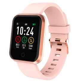 Smartwatch Roma Atrio Rose com 1,3, Pulseira em Silicone, Bluetooth e 512 KB