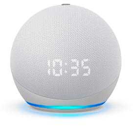 Echo Dot (4ª geração) Smart Speaker Amazon com Relógio e Alexa Branco