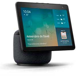 Smart Speaker Echo Show Amazon com Tela 10,1 HD Movimento e Alexa - Preta