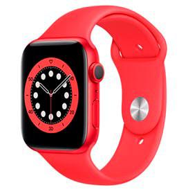 Apple Watch Series 6 Vermelho, 44mm, GPS, com Pulseira Esportiva Vermelha