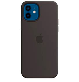 Capa para iPhone 12 e iPhone 12 Pro em Silicone Preta - Apple - MHL73ZE/A