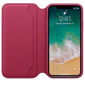 Capa Folio para iPhone X de Couro Fruta Vermelha - Apple - MQRX2ZM/A