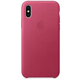 Capa para iPhone X de Couro Pink Fuchsia - Apple - MQTJ2ZM/A