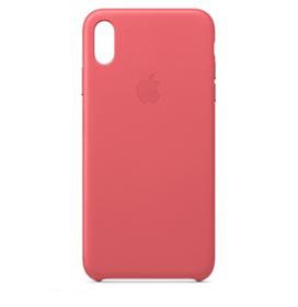 Capa Protetora para iPhone XS Max em Couro Rosa-Pedônia - Apple - MTEX2ZM