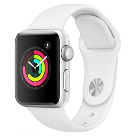 Apple Watch S3 Sport Prata com Pulseira Esportiva Branca, 38 mm, Bluetooth e 8 GB