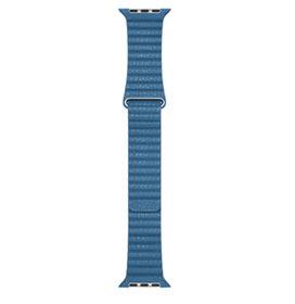 Pulseira para Apple Watch 44 mm em Couro Tamanho Médio Azul Cape Cod - MTH92AM/A