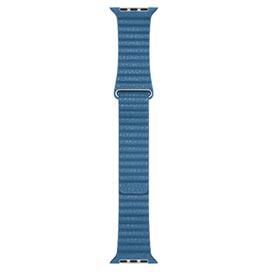 Pulseira para Apple Watch 44 mm em Couro Tamanho Grande Azul Cape Cod - MTHA2AM/A