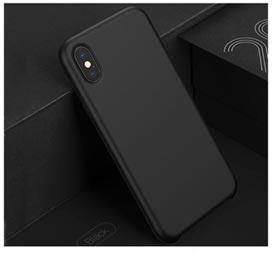 Capa para iPhone X LSR Original Silicone Preta - Baseus - WIAPIPHX-SL01