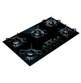 Cooktop de 5 Bocas Brastemp com Acendimento Super Automático a Gás Preto Ative Brastemp - BDD75AEUNA