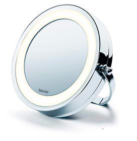 Espelho Cosmético Iluminado em Metal Cromado com 2 espelhos giratórios - Beurer - BS 59