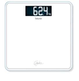 Balança Digital em Vidro Beurer para até 200 kg - GS 400 White