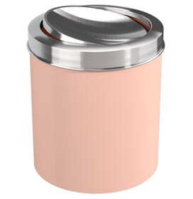 Lixeira com Tampa Basc Rosa Blush em Aço Inox com 5,4 Litros de Capacidade Coza