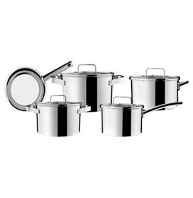 Conjunto de Panelas em Aço Inox e Fundo Triplo com 05 Peças Palazzo -Brinox