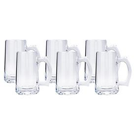 Conjunto de Canecas para Chopp Pavillion em Vidro 350 ml com 06 Peças - Haus Concept