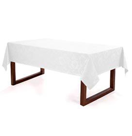 Toalha de Mesa Retangular Sienna Branco - Karsten