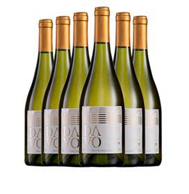 Kit com 06 unidades de Vinho Fino Davo Branco Seco Chardonnay com 750 ml