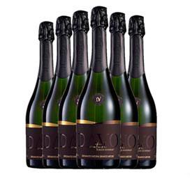 Kit com 06 unidades de Vinho Espumante Davo Maduro e Complexo Nature 100% Chardonnay com 750 ml