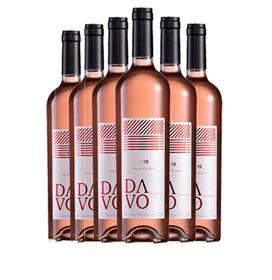 Kit com 06 unidades de Vinho Fino Davo Rose Seco Pinot Noir com 750 ml