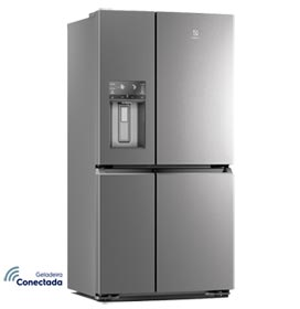 Refrigerador French Door Electrolux de 04 Portas Frost Free com 585 Litros FlexiSpace Inox - DQ90X