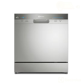Lava-Louças Electrolux Inox com 08 Serviços, 07 Programas de Lavagem e Painel Blue Touch - LL08S