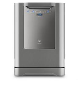 Lava-Louças Electrolux Inox com 14 Serviços, 06 Programas de Lavagem e Painel Blue Touch - LV14X