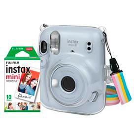 Kit Câmera Instantânea Instax Mini 11 Fujifilm Branca com Pack com 10 filmes e Bolsa Crystal - 705066133