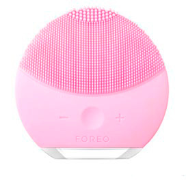 Escova de Limpeza Facial Luna Mini 2 Pearl Pink para Rosto e Pescoço - Foreo