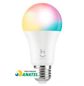 Lâmpada LED Inteligente RGB+W 2700-6500Ksoquete E27 Wi-Fi + Bluetooth - HI GEONAV