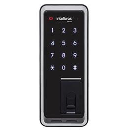 Fechadura Digital e Biométrica Intelbras Preta e Cinza - FR 220
