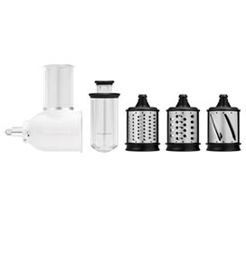 Ralador e Fatiador para Stand Mixer em Aço Inox Branco - KitchenAid