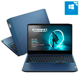 Notebook Lenovo, Intel Core i7 10750H, 8GB, 512GB SSD, 15,6, GTX1650, Ideapad Gaming 3i, Chameleon Blue - 82CG0005BR