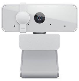 Webcam Lenovo 300 Full HD Com 2 Microfones Integrados 1080p 30fps USB Cinza Claro GXC1B34793
