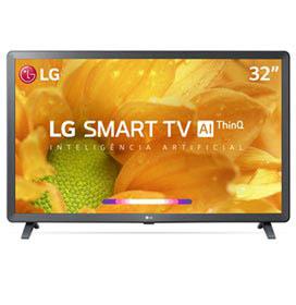 Smart TV LG LCD 32 com Comandos de Voz, WebOS 4.5, Upscaler HD, HDR Ativo e Wi-Fi Preta - 32LM625BPSB