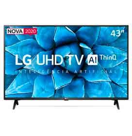 Smart TV LG 43 4K UHD 43UN7300 WiFi Bluetooth HDR Inteligência Artificial ThinQAI Google Alexa