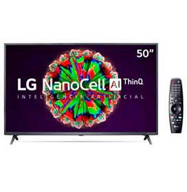 Smart TV NanoCell 4K LG LED 50 com ThinQAI, Google Assistente e Wi-Fi - 50NANO79SND