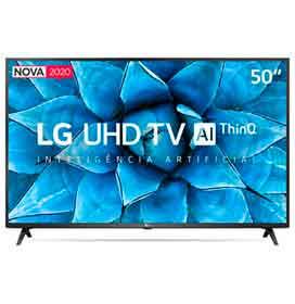 Smart TV LG 50 4K UHD 50UN7310 WiFi Bluetooth HDR Inteligência Artificial ThinQ Smart Magic Google Alexa