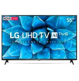 Smart TV LG 55 4K UHD 55UN7310 WiFi Bluetooth HDR Inteligência Artificial ThinQ Smart Magic Google Alexa