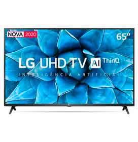 Smart TV LG 65 4K UHD 65UN7310 WiFi Bluetooth HDR Inteligência Artificial ThinQ Smart Magic Google Alexa
