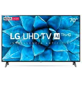 Smart TV LG 70 4K UHD 70UN7310 WiFi Bluetooth HDR Inteligência Artificial ThinQ Smart Magic Google Alexa