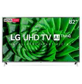 Smart TV LG 82 4K UHD 82UN8000 WiFi Bluetooth HDR Inteligência Artificial ThinQ Smart Magic Google Alexa