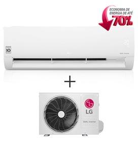 Ar Condicionado Split Dual Inverter LG com 12.000 BTUs, Frio, Branco - S4NQ12JA3WF