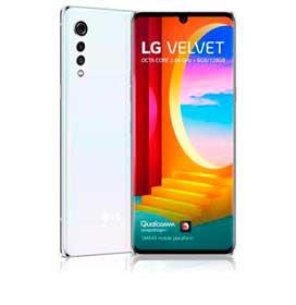 Smartphone Velvet Aurora White LG, com Tela de 6,8, 4G, 128GB e Câmera Tripla 48 MP + 8 MP + 5 MP - LMG910EMW.ABRAAW