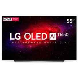 Smart TV LG 55 4K OLED55CX HDR WiFi Bluetooth Inteligência Artificial ThinQAI Smart Magic Google Alexa
