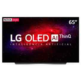 Smart TV LG 65 4K OLED65CX HDR WiFi Bluetooth Inteligência Artificial ThinQAI Smart Magic Google Alexa