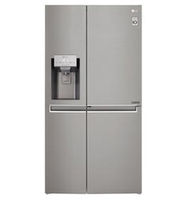 Refrigerador Smart LG Side by Side Inverter 601 Litros com Door-in-Door e LG ThinQ Inox - GS65SDN
