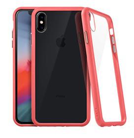 Capa para iPhone MS Max Accents com Fundo em Vidro e Borda Coral - Laut - LT-IPXSMACCCI