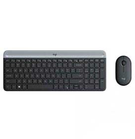 Teclado e Mouse sem Fio Slim Logitech Preto - MK470